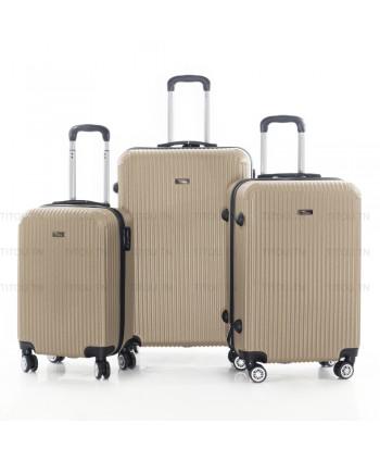 Set de trois valises - Beige