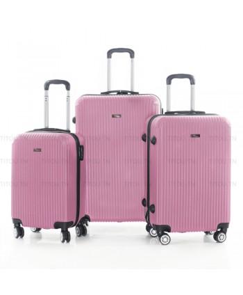 Set de trois valises - Rose...