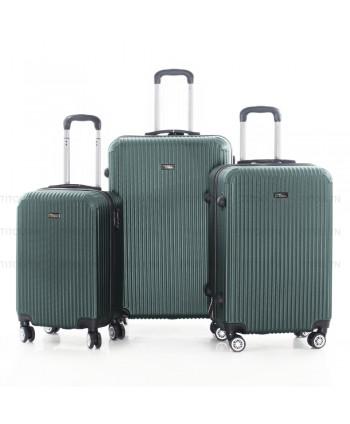 Set de trois valises - vert