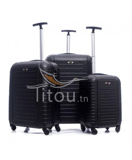 Set de trois valises - Amor - Noire