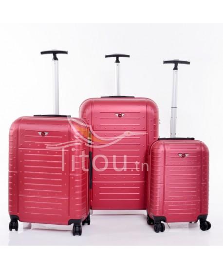 Set de trois valises - Amor - Rouge brick