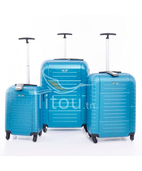 Set de trois valises - Amor - Turquoise