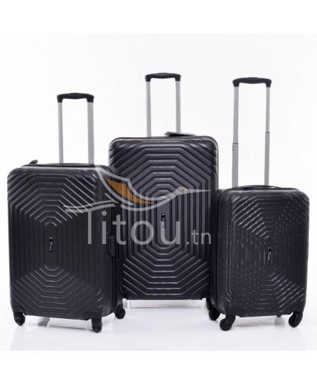 Set de trois valises - Invictus - Noire