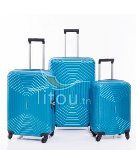 Set de trois valises - invictus - Turquoise