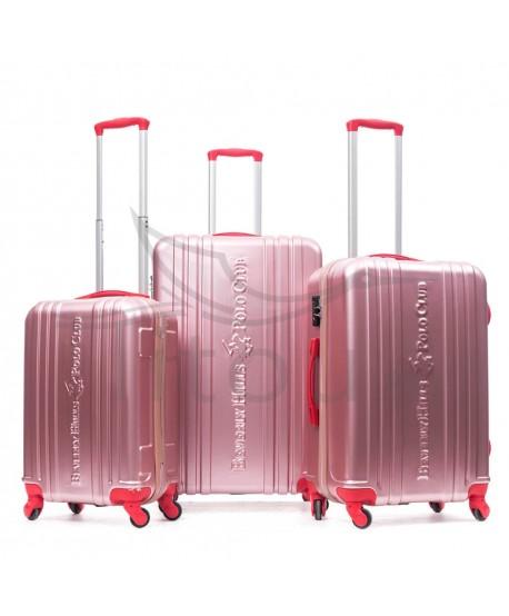 Set de trois valises polo club - Unity - Rose