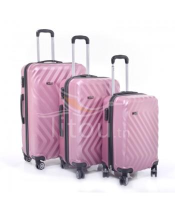 Set de trois valises - Rose