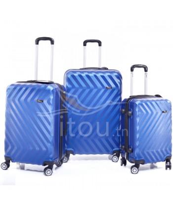 Set de trois valises - Bleu