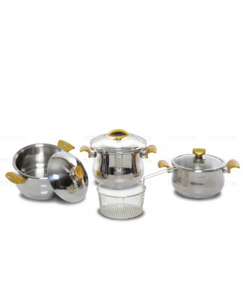 Pack Cocotte 7pcs OMS inox...