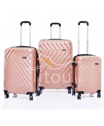 Set de trois valises - Saumon