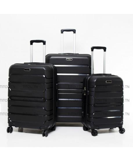 Set de trois valises - Titou - Noire