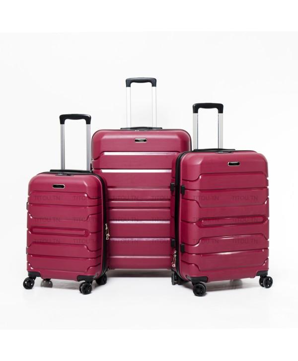 Set de trois valises - Titou - Rouge bordeaux