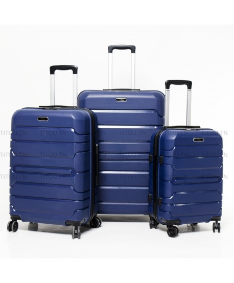 Set de trois valises - Titou - Bleu marine