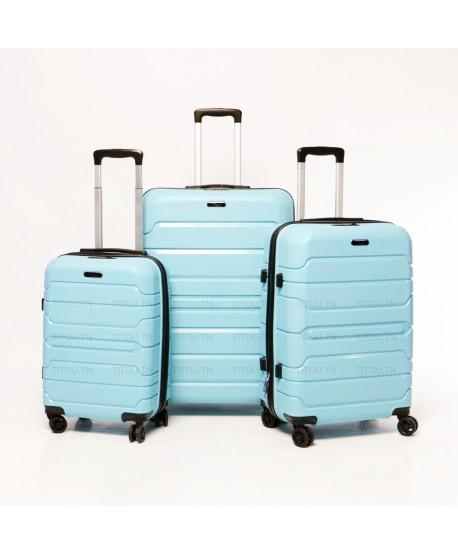 Set de trois valises - Titou - Bleu chwingum
