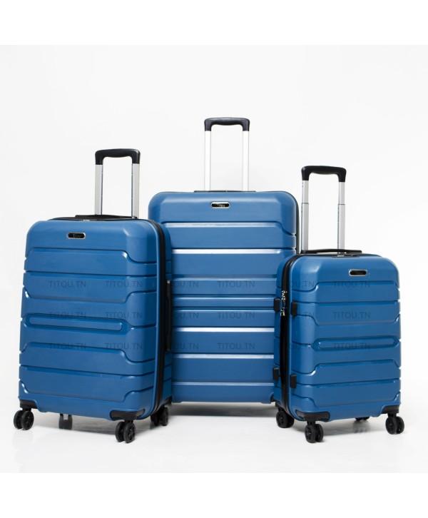 Set de trois valises - Titou - Bleu