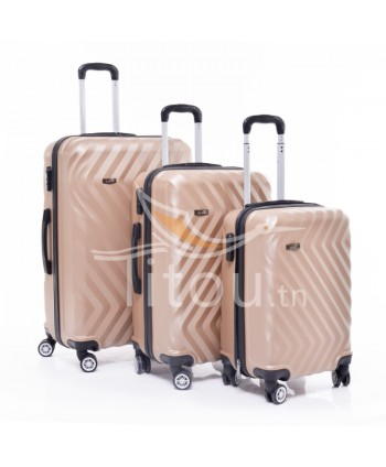Set de trois valises - Gold