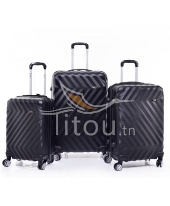 Set de trois valises - Noire