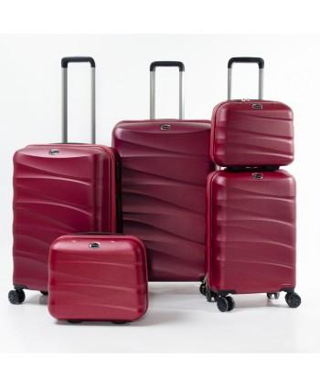 Set de 5 valises - Rouge