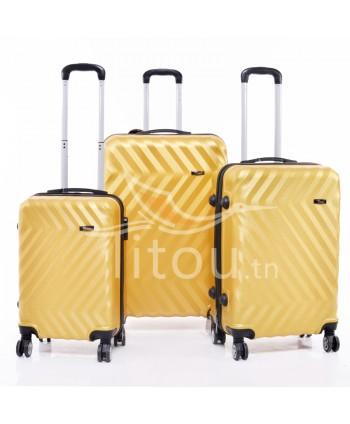Set de trois valises - Doré