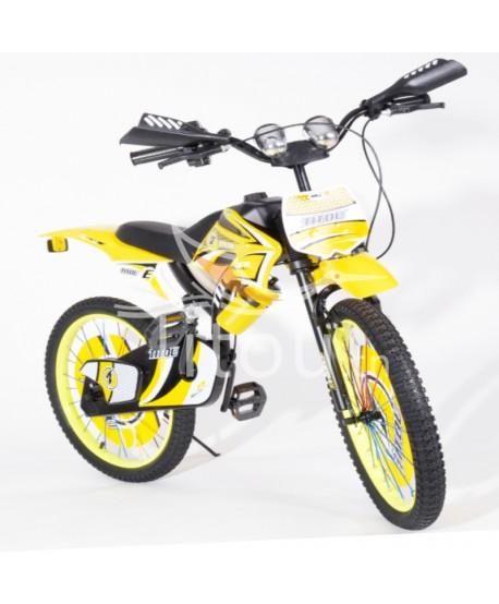 Bicyclette moto TITOU de 8 à 12 ans - Jaune