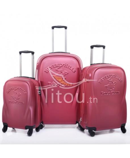 Set de trois valises polo club - Canada - Rouge