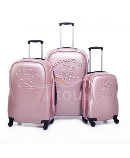 Set de trois valises polo club - Canada - Rose poudre