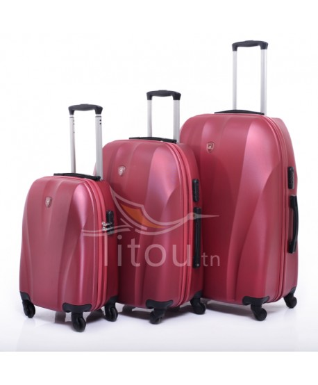 Set de trois valises polo club - Cappadocia - Rouge brick