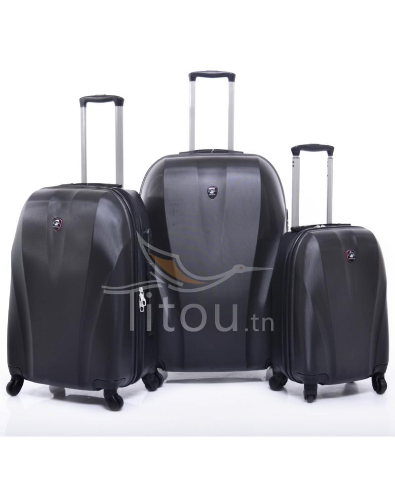 Set de trois valises polo club - Cappadocia - Noir