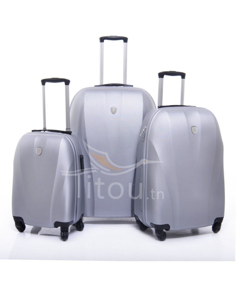 Set de trois valises polo club - Cappadocia - Gris