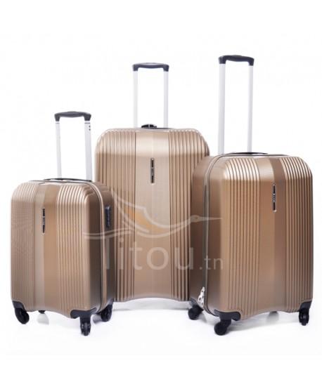 Set de trois valises - Wesley - Bronze