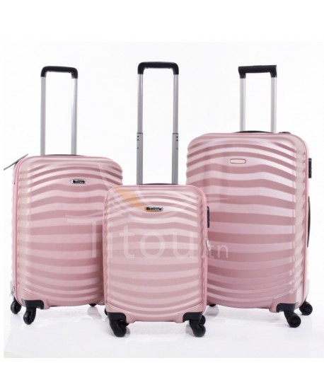 Set de trois valises - Lessie - Rose