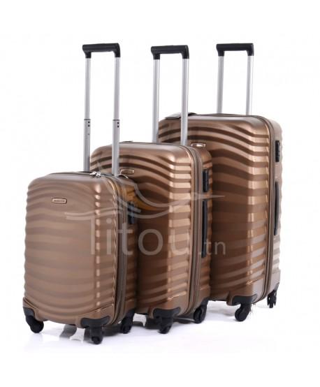 Set de trois valises - Lessie - Bronze