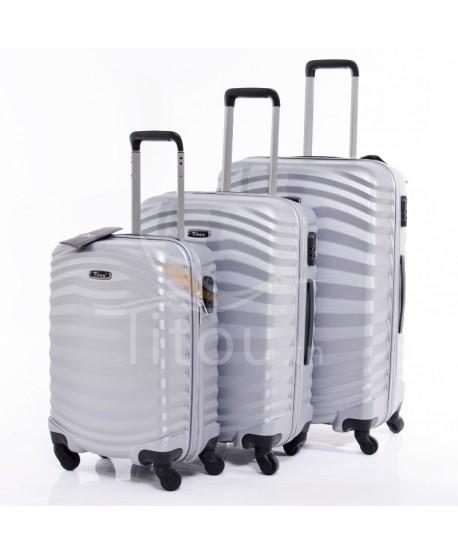 Set de trois valises - Lessie - Gris