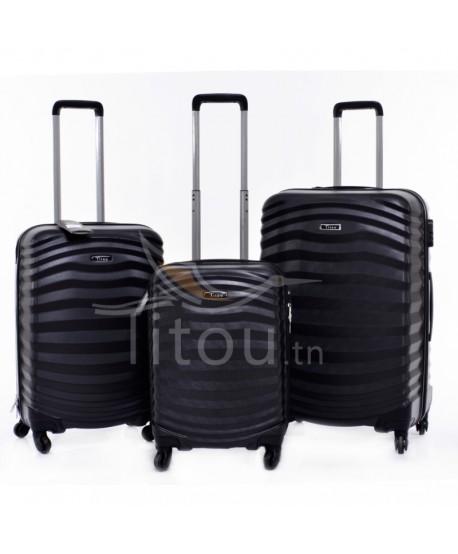 Set de trois valises - Lessie - Noir