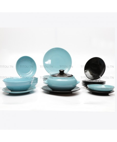 Service à table Sierra hamlia stoneware - Bleu noir
