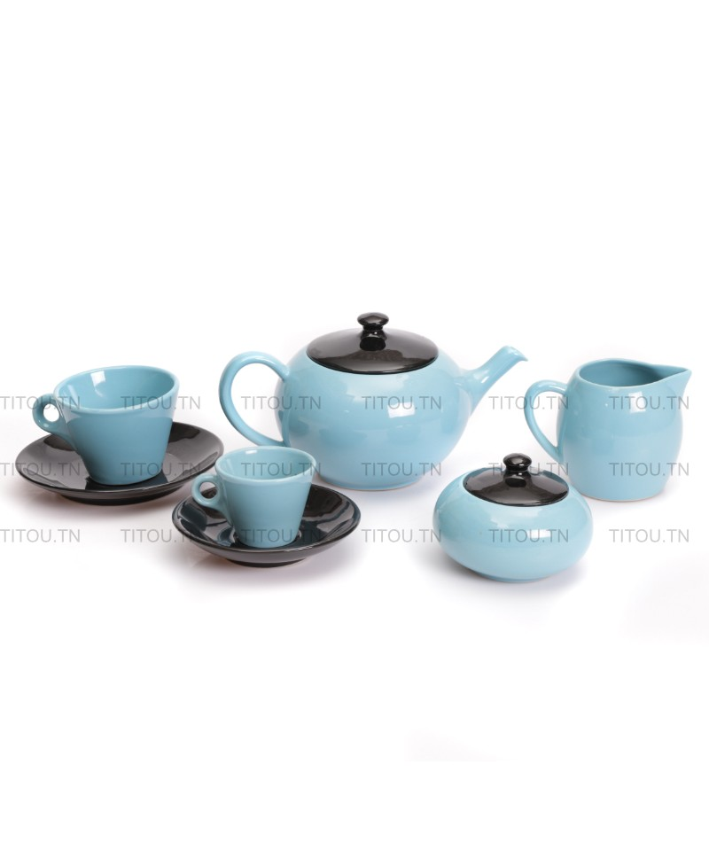Service café Sierra 29pcs hamila stoneware - Bleu noire
