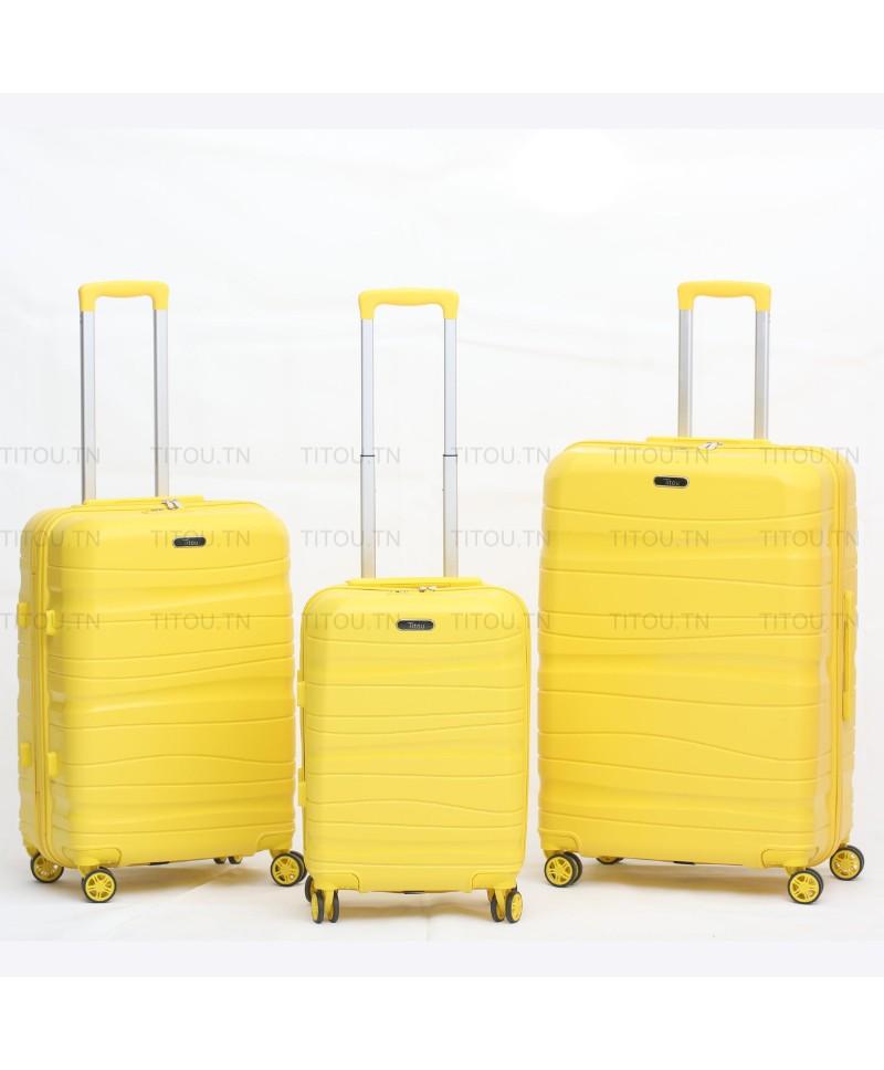 Set de trois valises - Titou - Jaune