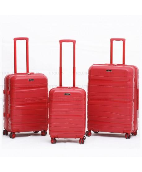 Set de trois valises - Titou - Rouge