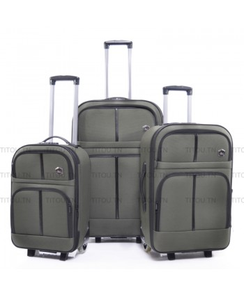 Set de trois valises Tissus...